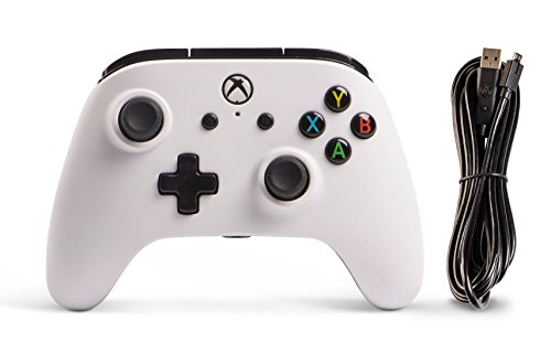 Enhanced Wired Controller for Xbox One - White, gamepad, wired video game controller, gaming controller, Xbox One, works… 8