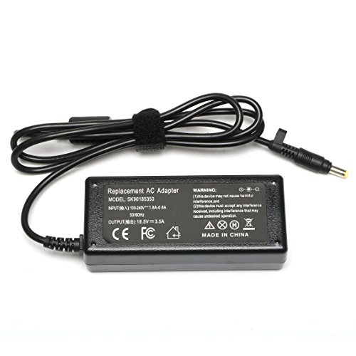 65W Replacement AC Power Adapter 18.5V 3.5A for HP Pavilion DV6000 DV2000 DV6500 DV6700 DV1000 DV5000 DV8000 Compaq Presario C300 C500 C700 F500 F700 Laptop Charger