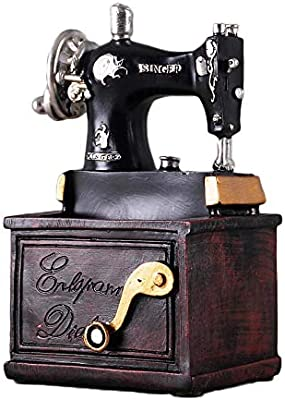 WgYoo Figuritas Decorativas Nostálgico Muebles Vintage Máquina De ...