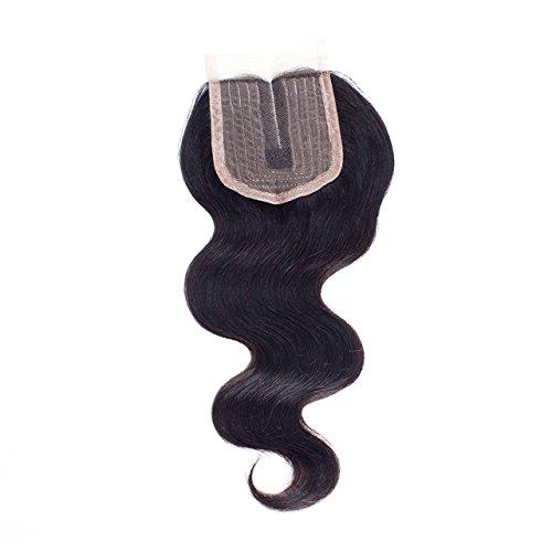 Alica 4x4 Lace Closure 1 Piece Middle Part Brazilian Virgin Hair Body Wave Top Closure (10