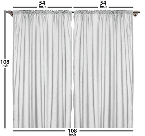 "Ambesonne Rainbow Curtains, Silhouette of a Tree on Hill with Sun and 2 Rainbows Spring Time Flowers, Living Room Bedroom Window Drapes 2 Panel Set, 108"" X 108"", Marigold"