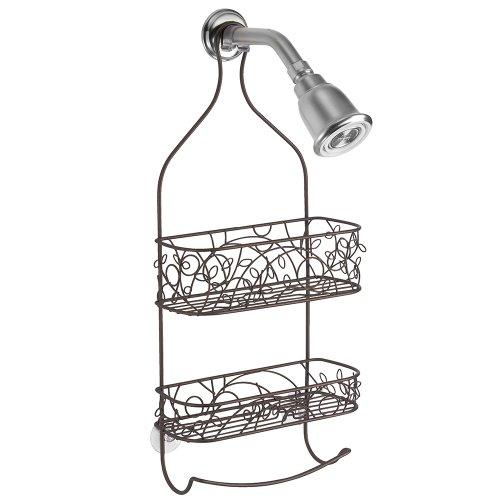 InterDesign Twigz Shower Caddy - Bathroom Shelves for Shampoo, Conditioner and Soap, Bronze
