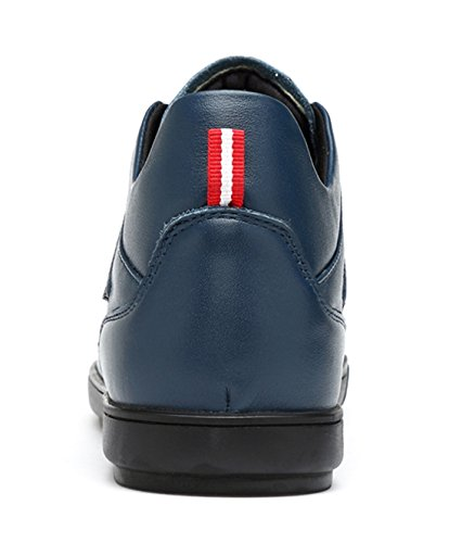 ... Tda Gutter Mens Fashion Cap Toe Lær Kjører Walking Lav-top Sneakers  Atletisk Joggesko Blå ...