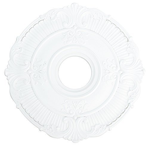 Livex Lighting 82030-03 Buckingham Ceiling Medallion, White by Livex Lighting Buckingham Ceiling Lighting