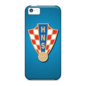Hard Plastic Iphone 5c Cases Back Covers,hot Croatia Football Logo Cases At Perfect Customized
