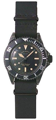 [ヴァーグウォッチカンパニー]VAGUE WATCH Co. 腕時計 BLK SUB(ブラック サブ) ミリタリー GUIDI&ROSELLINI NATOベルト BS-L-N001 メンズ B01G5C8B2A