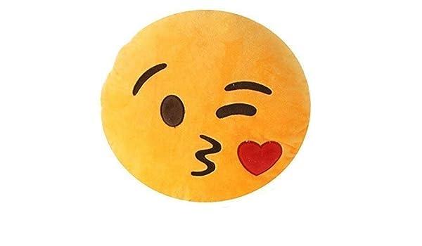 TrendingTemple Emoji Smiley Emoticon cojín Almohada rellena ...