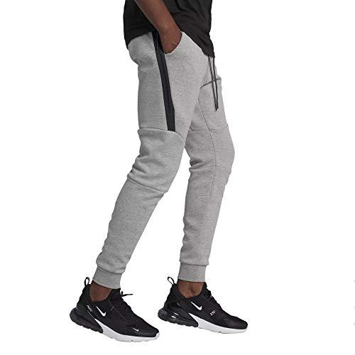 NIKE Mens Sportswear Tech Fleece Jogger Sweatpants Grey Heather/Black 805162-063 Size X-Large ()