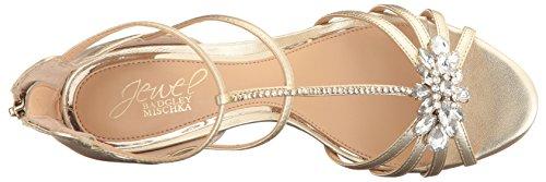 Badgley Mischka Donna Color Nocciola Ii Vestito Sandalo Oro