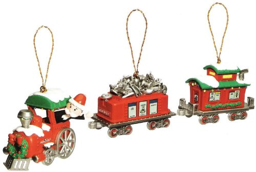 amazoncom monopoly christmas express train ornament set home kitchen