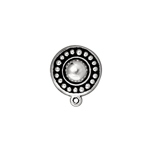 (TierraCast Round Clip Earring, 16mm, Antiqued Fine Silver Plated Pewter, 1-Set/Pack)