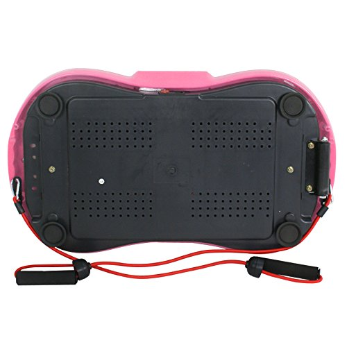 Fitness Vibration Platform Full Body Workout Machine Fit Vibration Plate W/Remote Control and Resistance Bands, Bluetooth Exercise Equipment (Pink) by Nova Microdermabrasion (Image #7)