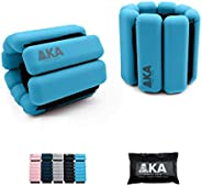 AKA Adjustable ((0-1LB) Durable Silicone Wrist Weights Bracelets Set Ankle & Wearable Weight for Fitness,