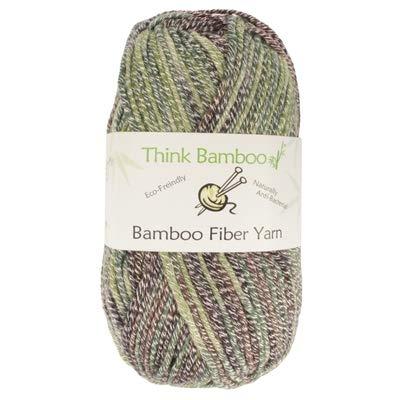 (Worsted Weight Soft Slim Bamboo Wool Yarn - 100g/Skein - 2 Skeins)