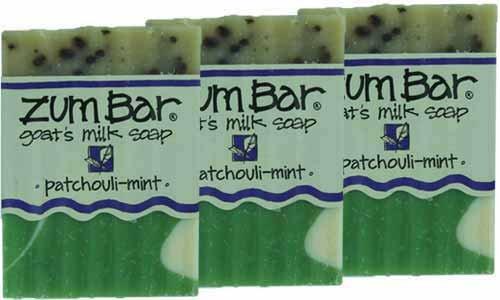 Indigo Wild: Zum Bar Goat's Milk Soap Bar, Patchouli Mint 3 oz (3 pack) ()