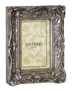 Chelsea Swept Vintage Picture Frame Shabby Chic Silver 8 X 10