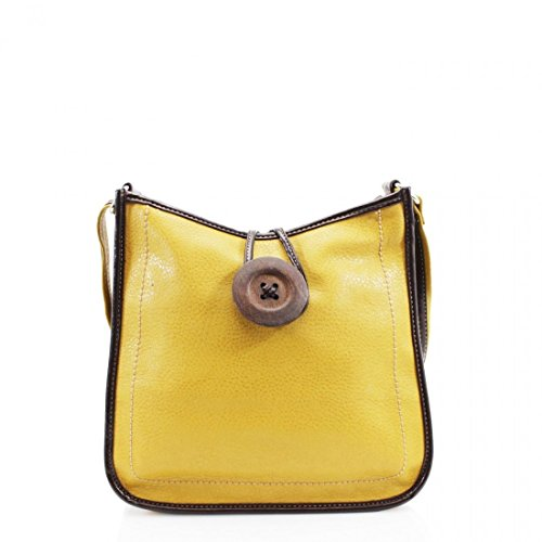 Unbranded, Borsa a tracolla donna M Yellow