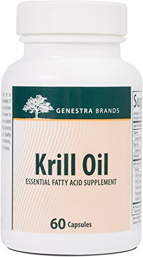 Genestra Brands - Krill Oil - Blend of Omega-3 Fatty Acids, Phospholipids, and Astaxanthin - 60 Capsules by Genestra Brands