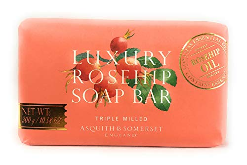 Asquith & Somerset Luxury Rosehip Triple Milled Soap Bar 10.58 OZ