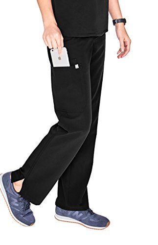 FIGS Medical Scrubs Women's Kade Cargo Scrub Pants (Black, L) by FIGS