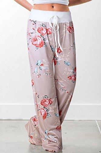 Floral Quotidien Long Yoga Femmes Kaki De Jambes Occasionnel des Le Lounge Palazzo Pantalon wUTYR