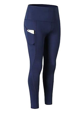 Kewing Pantalones de Secado rápido para Mujer, Cintura Alta ...