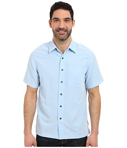 Royal Robbins Men's Desert Pucker Short Sleeve Shirt, Blue Chill, Small