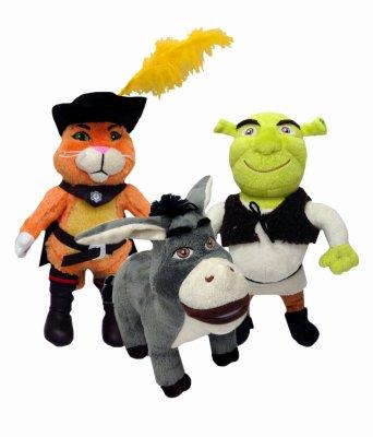 Multipet International 37058 Shrek Plush Dog Toy - Quantity 3
