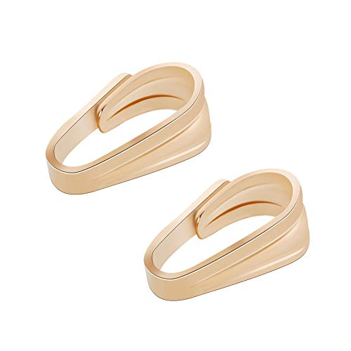 (BENECREAT 10 PCS 14K Gold Filled Pinch Clip Clasp Bail Necklace Clasps Pendant Charms Clasps for DIY Crafting Jewellery Making(5 x 3 x 2mm))