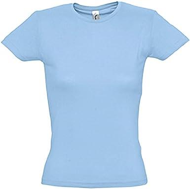SOLS- Camiseta de Manga Corta Miss para Chica/Mujer: Amazon.es: Ropa y accesorios