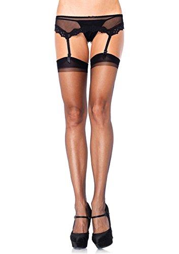 Leg Avenue Women's Spandex Ultra Sheer Back Seam Stockings, Black, One (Back Seam Spandex)