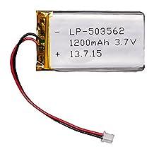 1200mAh 3.7V Li-Poly Battery with JST-PH cable
