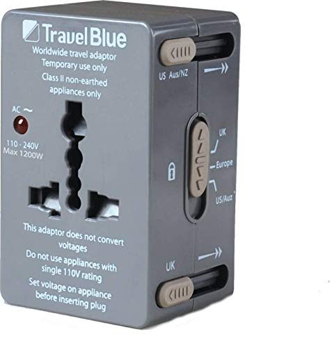 Travel Blue Worldwide Polycarbonate Travel Adaptor  Grey, 179