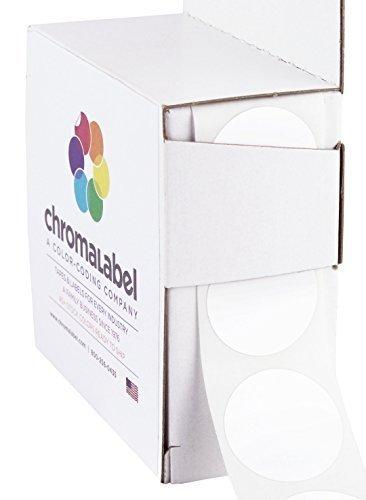 ChromaLabel 1 inch Color-Code Dot Labels   1,000/Dispenser Box (White)