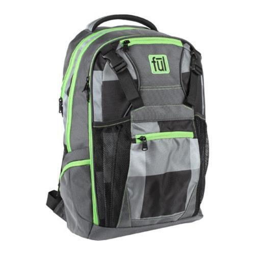 Ful Troubleshooter Laptop Backpack, Fits up to 17-Inch Laptop, Grey/Green