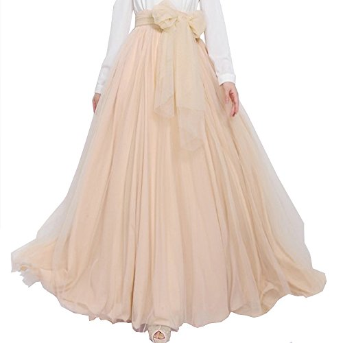 BACKGARDEN Vogue Tulle Bride Long A Line Skirt Bridesmaid Maxi Wedding Dress w/Belt (dark red): Amazon.co.uk: Clothing
