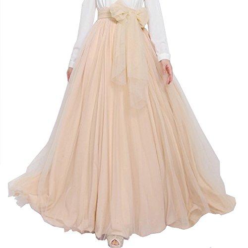 BACKGARDEN Vogue Tulle Bride Long A Line Skirt Bridesmaid Maxi Wedding Dress w/Belt (dark red): Amazon.co.uk: Clothing
