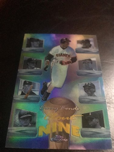 1998 MLB Topps Chrome Barry Bonds Clout 9 Insert Refractor Card #C7R! Pittsburgh Pirates, San Fransisco - Giants Alex Rodriguez