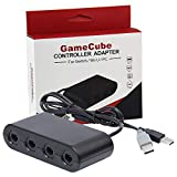 【2019 Upgraded】 Switch Gamecube Controller Adapter, Lxuemlu Super Smash Bros Nintendo Switch Gamecube Adapter for Switch, Wii U and PC USB with 4 Ports - Plug & Play, No Drivers Needed
