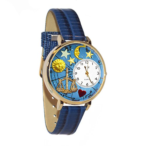 Whimsical Watches Unisex G1810008 Libra Royal Blue Leather Watch