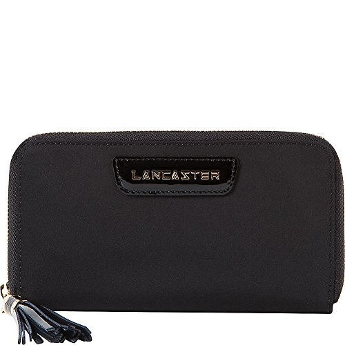 lancaster-paris-nylon-patent-leather-wallet-black