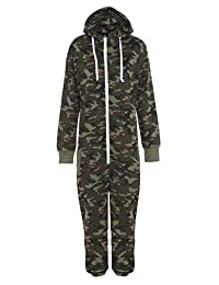 Fury Boys Girls Onesie Pyjamas Pajama All In One Camo Camouflage Combat Nightwear
