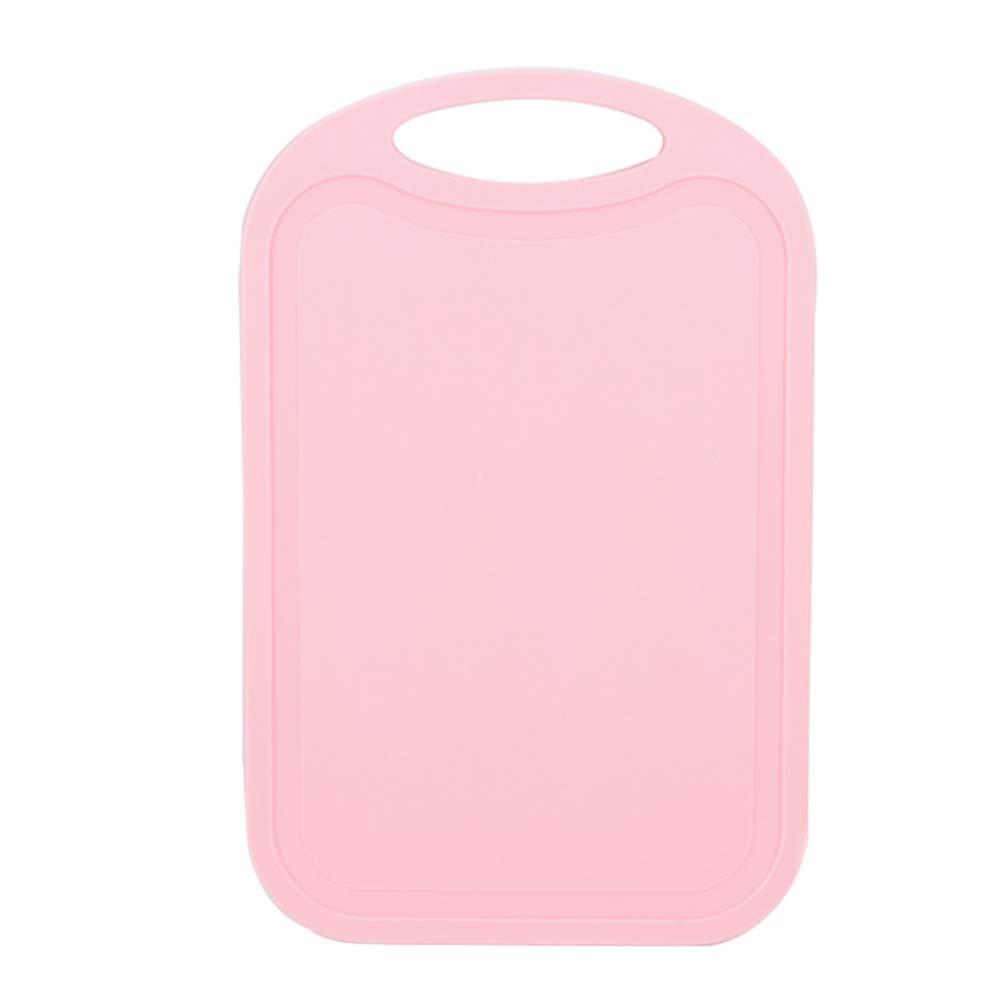 Braceus Nonslip Plastic Cutting Board Food Fruit Chopping Block Mat Kitchen Cook Supply Light Pink