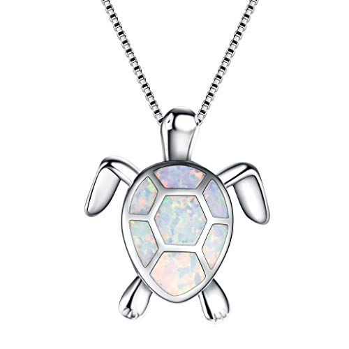 Rose fragrance 2019 Women Charm Cute Sweater Necklace Opal Turtle Pendant Jewelry OrnamentMothers Day