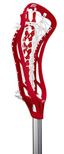 UPC 098805487607, STX Lacrosse Women's EXULT 300 Complete Stick Red Head and Runway Pocket on STX 7075 Handle