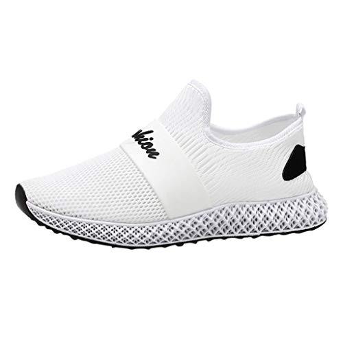 Men's Blade Sneakers Mesh Breathable Fashion Sports Casual Walking Running Shoes White