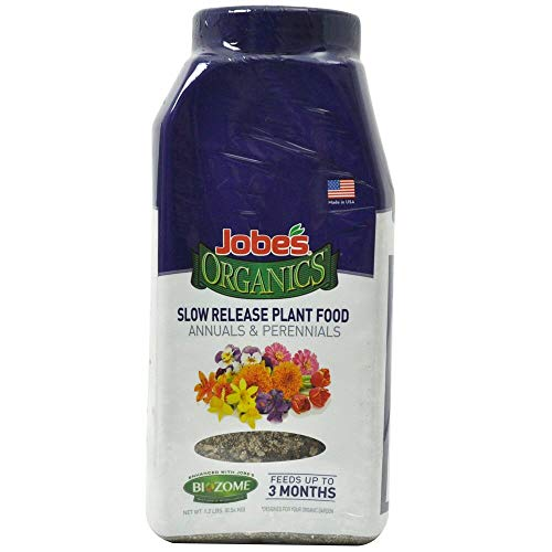 Jobe's Organics 09686 Annuals & Perennials Slow Release Plant Food, 1 -