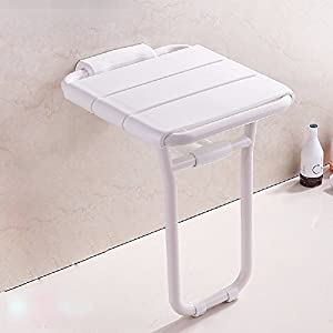 HQLCX Shoes Folding Seat Stool, Bathroom And Toilet For The Disabled  Elderly Security Wall Chair, Bath Shower Wall Wall Stool Stool, Stool