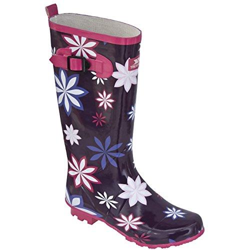 Trespass Damen Flora Gummistiefel mit Blumenmuster (41 EU) (Lila gemustert)