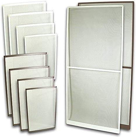 Fliegennetz Fenster Aluminium Rahmen Weiss Gr/ö/ße 80cm*100cm Fliegengitter Insektenschutz Gitter Fiberglas